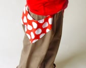 Hobbit Hosen Pocket Pants - Polka Dots