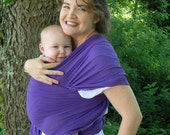 Gauze Baby Wrap Sling Carrier - Royal Purple - 6 yard length, summer babywearing, lightweight cool baby wrap, baby shower gift