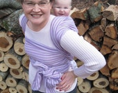 Woven Wrap Baby Sling Carrier - Lavender Stripe - DVD included