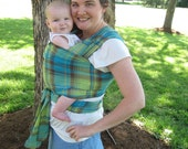 Baby Sling Woven Baby Wrap Carrier - Airy Cotton Gauze in Earthy Apple Green - LAST 6 yard