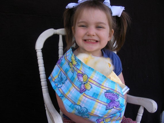 Butterfly Doll Sling - Children's Toy Pouch - great for imaginative play
