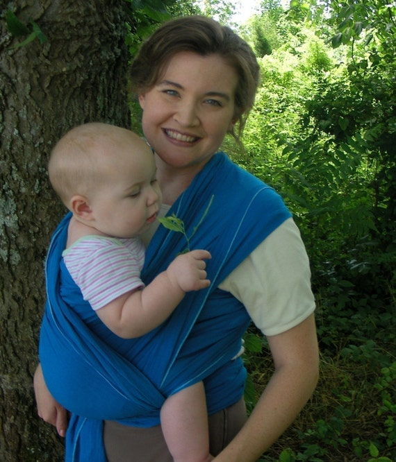 Airy WOVEN Baby Wrap Sling w DVD TUTORIAL - beautiful edge - 9 Colors