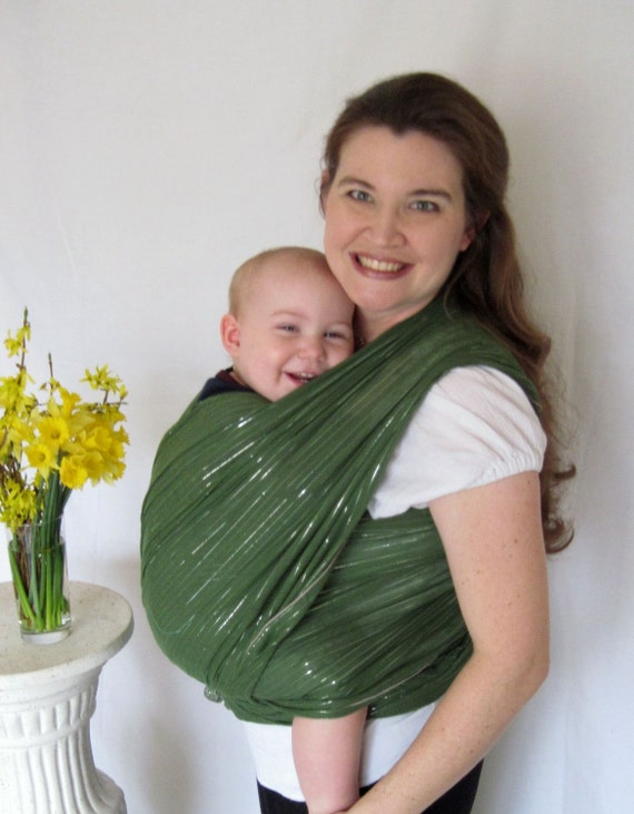 Gauze Baby Wrap - Airy Cotton LAST ONE - Moss Shimmer - DVD