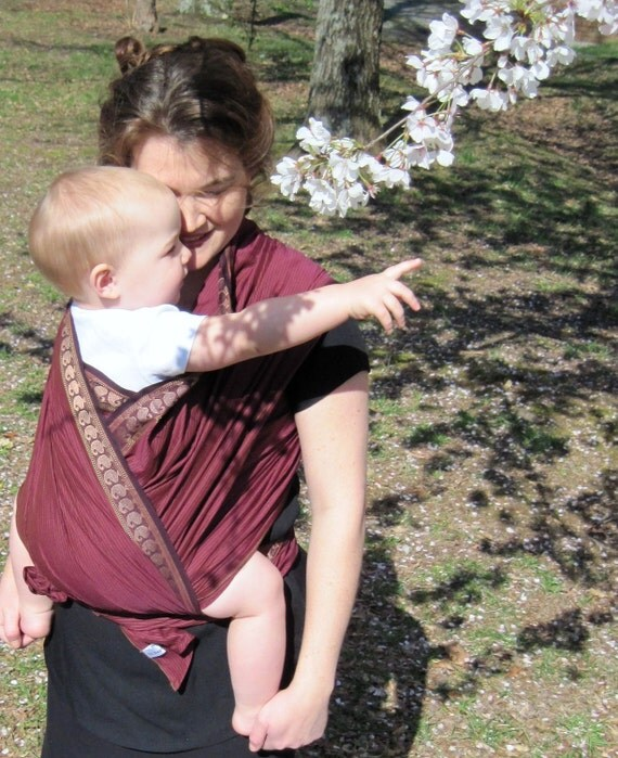 Signature Series - Beautiful Handloomed Cotton Silk Baby Wrap sling Carrier - Limited Edition