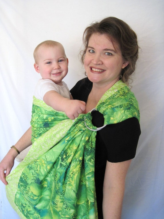 Limeade Smoothie - LPK Original Edge - Ring Sling Double Layer Baby Carrier -tutorial DVD