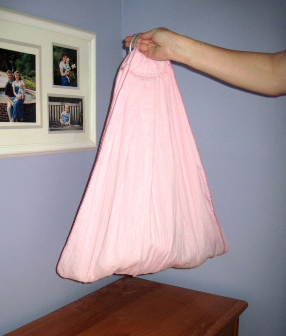 Midwifery Sling for weighing newborn or homebirth keepsake - Double layer Petal pink gauze