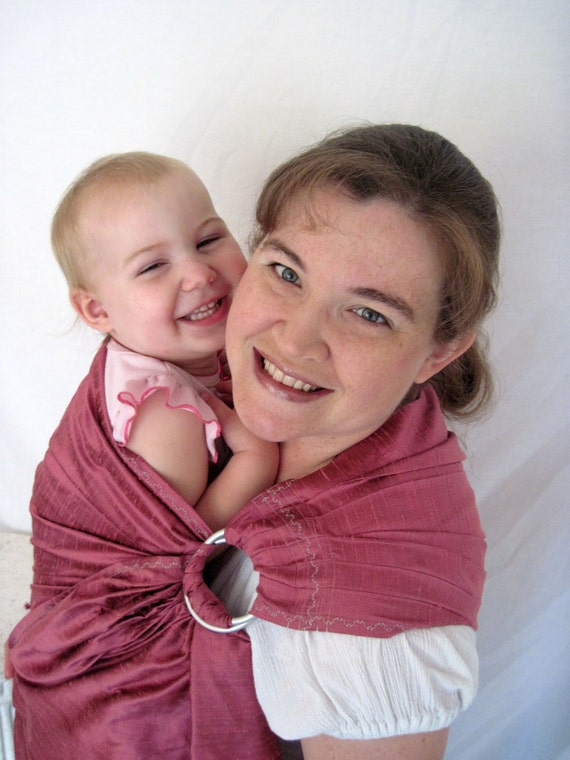 Baby Ring Sling - Silk in Primrose - Baby Carrier sling - DVD included
