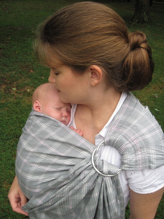 Ring Sling Baby Sling Carrier - Lightweight double layer cotton - LAST ONE - dvd included
