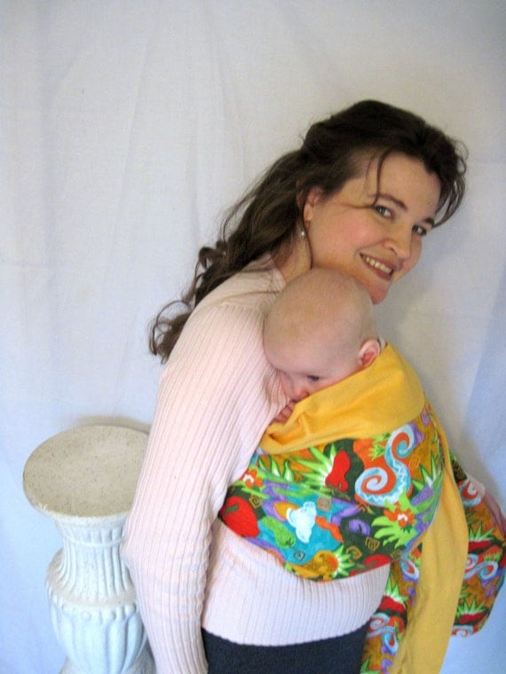 Sale Ring Sling Baby Carrier w LPK Original Edge - -Spicy Salsa - tutorial Dvd//