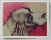 Springer Spaniel Dog Art  Note Cards By Cori Solomon