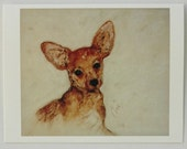 Chihuahua Dog Art Note Cards By Cori Solomon