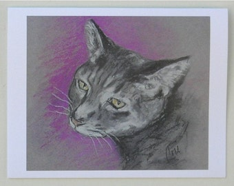 Gray Tabby Cat Note Cards By Cori Solomon