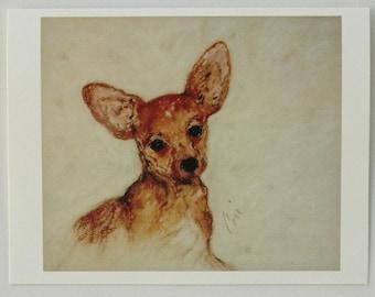 Chihuahua Dog Art Note Cards By Cori Solomon