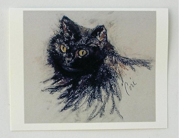 Molly Cat Art Note Cards By Cori Solomon