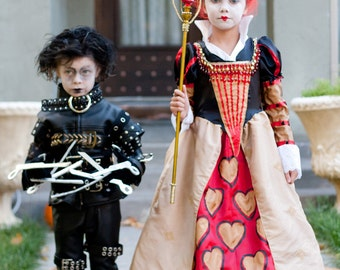 Tim Burton children's costumes - Edward Scissorhands or the Red Queen - Custom Made