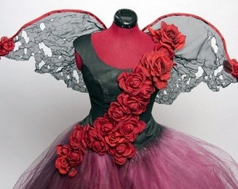 Tattered Rose Fairy Dress Costume - Made to Order