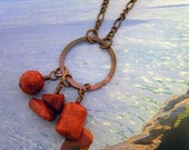 Sponge Coral and Copper Necklace