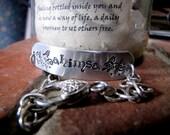 Ahimsa aluminum ID bracelet