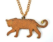 Enamel Leopard Necklace SALE
