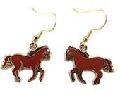 Enamel Wild Horse Earrings (SALE)