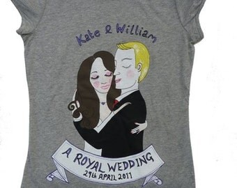 Kate and  William T shirt SALE