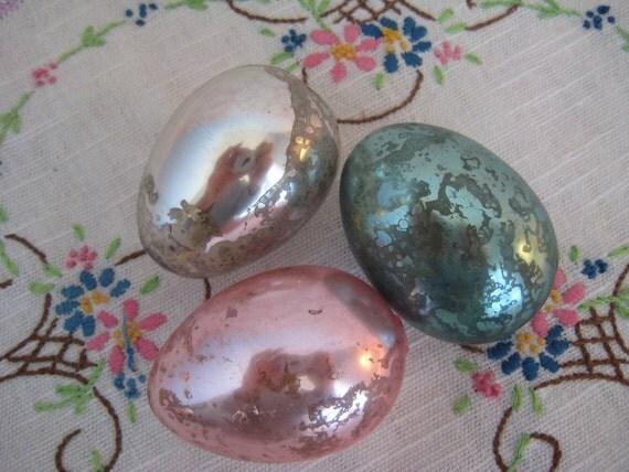 Easter eggs mercury glass