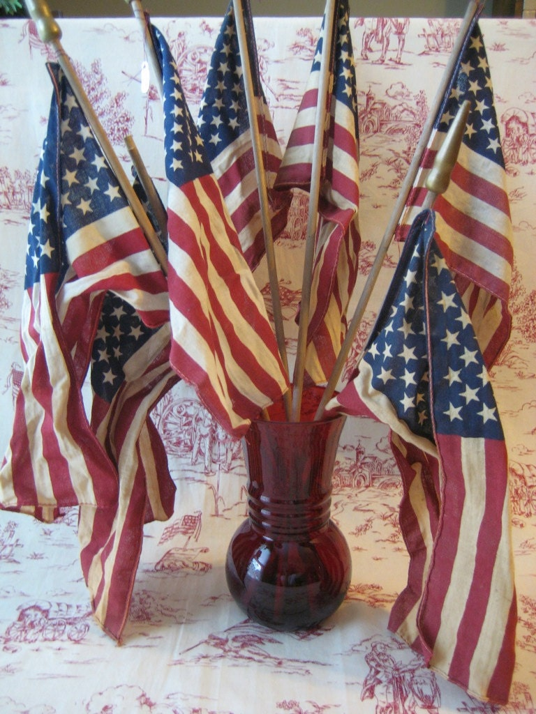 Vintage American Flags Treasury