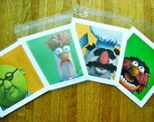 Set of Four Muppet Prints your choice