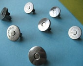 FREE  SHIPPING -- Extra Thin 12 sets of 18 mm Gunmetal/Dark Nickel Magnetic Snap Closures