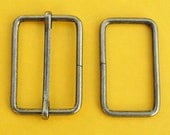 FREE SHIPPING--10 sets, 1.5 inches Anti Brass Rectangle Strap Sliders and 1.5 inches Anti Brass Rectangle Rings