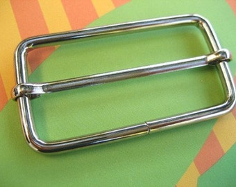 FREE SHIPPING--20 of 2 inches Silver/Nickel Rectangle Strap Sliders
