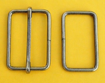 FREE SHIPPING--20 sets, 1.5 inches Anti Brass Rectangle Strap Sliders and 1.5 inches Anti Brass Rectangle Rings