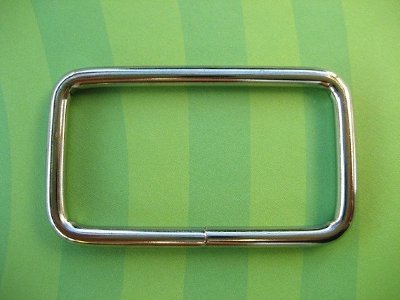 FREE SHIPPING--20 of 1 1/2 inch Non-Welded Silver/Nickel Rectangle Rings