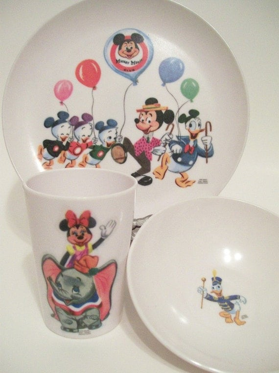 Vintage Disney 39 S Mickey Mouse And Friends Club Melamine