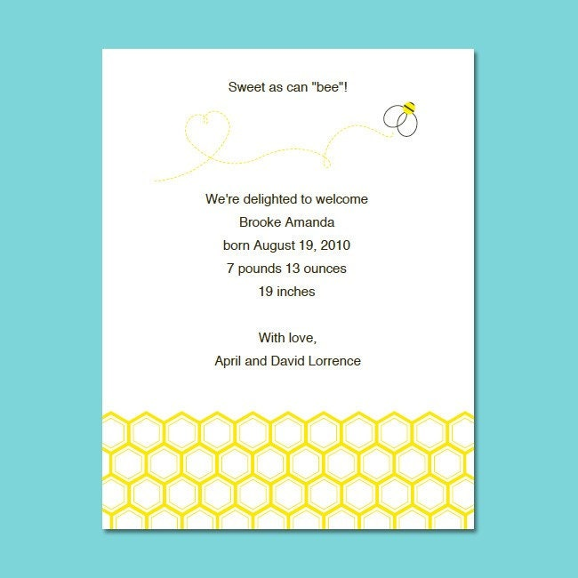 Free printable birth announcements templates search results calendar 2015 for Free printable birth announcements