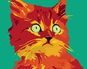 Ginger Kitten print, 9 x 12.5