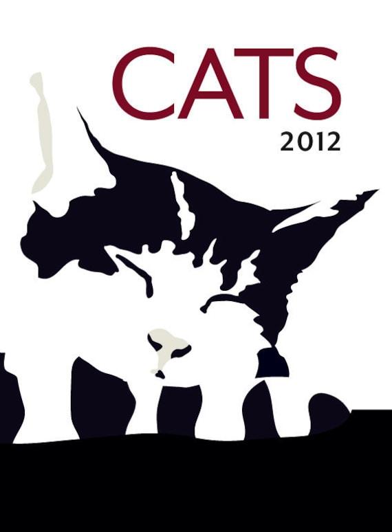 2012 Cats Wall Calendar - Limited Edition - Plus three bonus prints