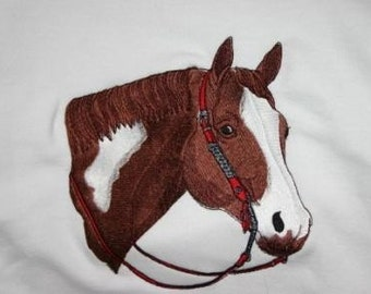 Embroidered Sweatshirt with Quarter Horse