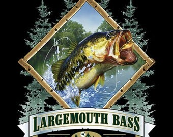 Large Mouth Bass -  Hook It - Cook It - Sweatshirt - U Pic Size and Collar - Small to XXLarge