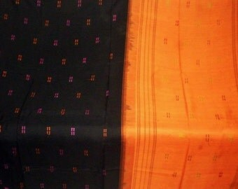 S 33 Vintage Handwoven Silk Cotton Sari Veil Goddess Belly Dance Peacocks