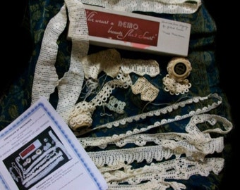 A 422 Lady Tatterlys Lover Tatting Thread Crochet Lingerie Edgings Suite Lot With Provenance Certificate English Antique