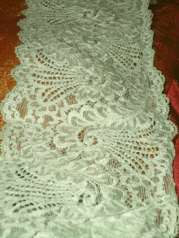 Botecelli Sage Green  5 Inch Wide Stretch Lace BTY