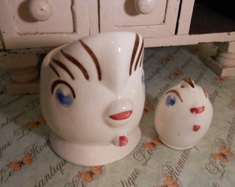 Vintage Chicken Egg Cup Peep Salt  for Easter breakfast