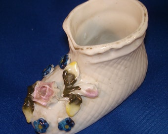 Vintage Miniature Ceramic Baby Shoe Capodimonte