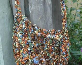 Indian Summer Crocheted Shoulder Bag Purse