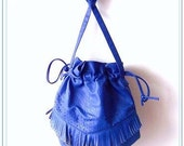 Fringed Electric Blue Purse
