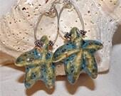 Ceramic Starfish Earrings