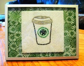 A Cup of Starbucks - Framed Embroidery
