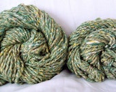 DESTASH - 147 Yards - Handspun & Hand-Beaded 70 Merino Wool, 30 Silk Bulky Weight Art Yarn with Beads (Set of 2 Skeins)