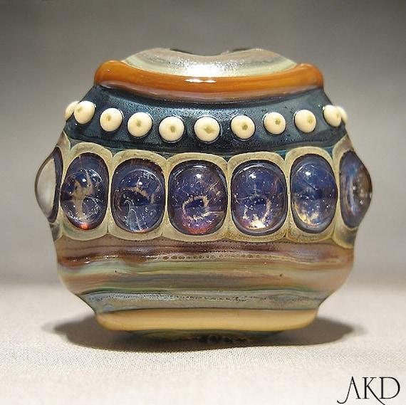 Arabian Nights, Focal Lampwork Glass Bead AKDesigns